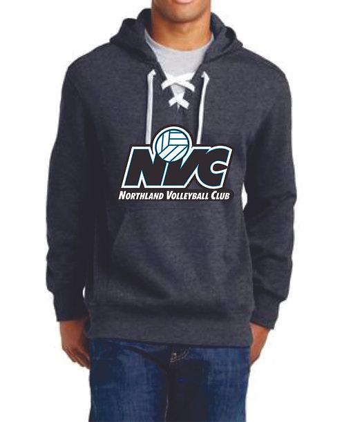 Dark Gray Embroidered Hockey Hoodie