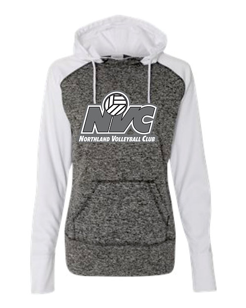 NVC White Raglan Fleece Hoodie