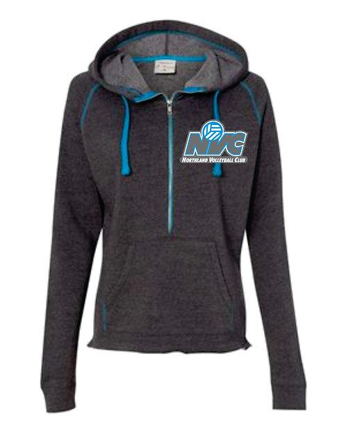 NVC Blue Hooded 1/4 Zip