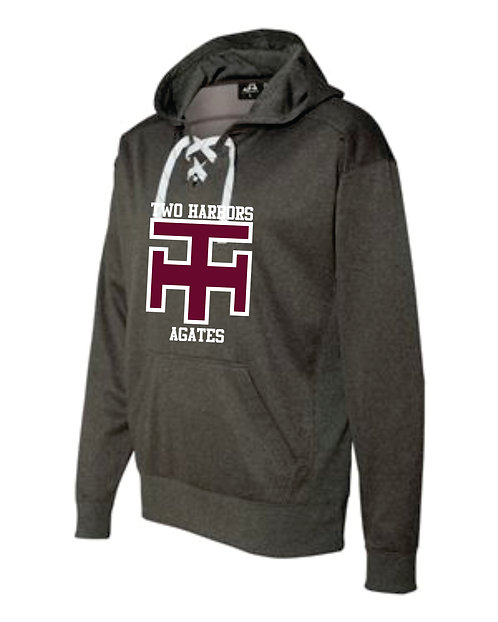 TH Sport Lace Fleece Hooded Pullover
