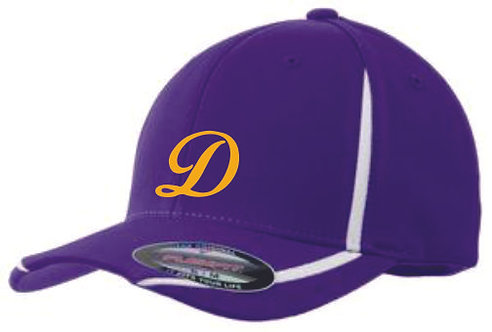Drummond Purple & White Flexfit Hat