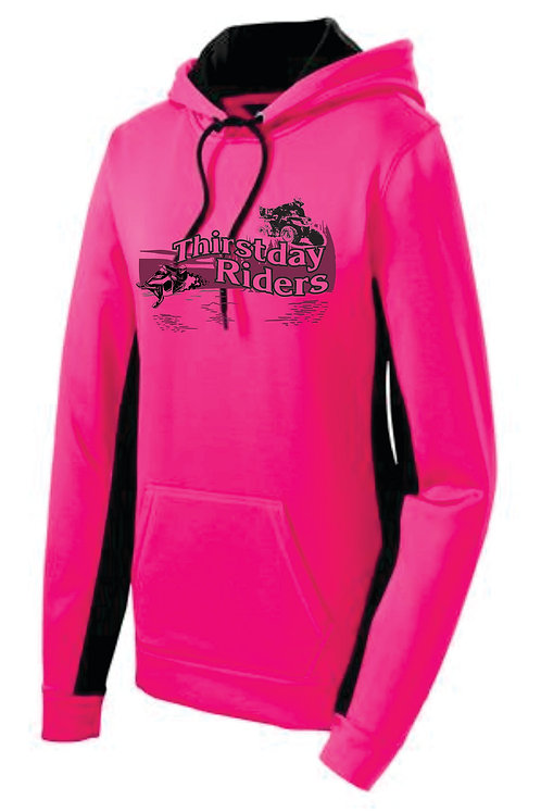 Thirstday Riders Ladies Contrast Dri-Fit Hoodie