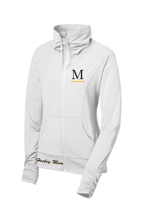 Marshall White Shall Collar Mom Jacket