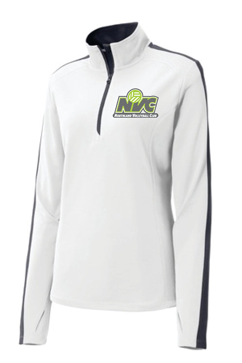 NVC White Ladies 1/4 Zip