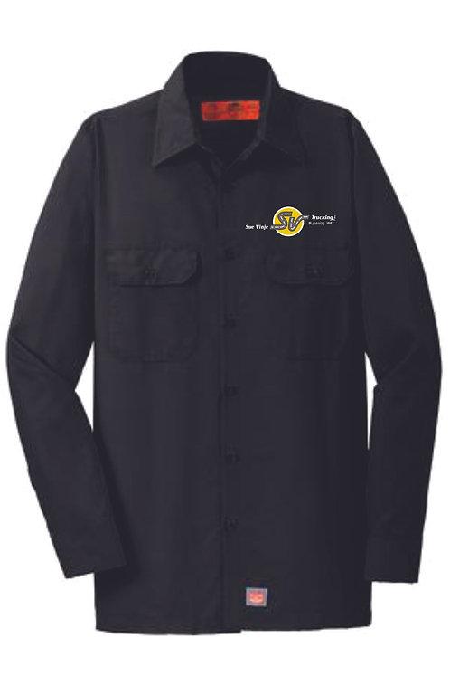 Sue Vinje Long Sleeve Button Down Work Shirt