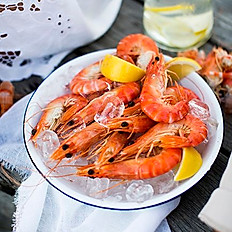 Fresh Prawns with Sweet Soya Sauce (cold dish)