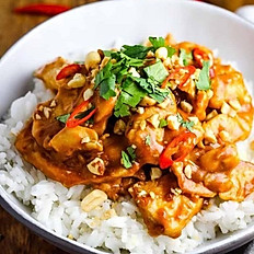 Chicken with Taiwanese Satay Sauce with Rice