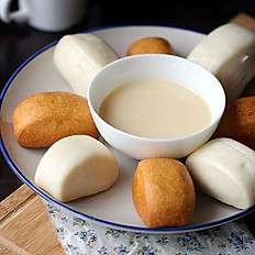 Steamed and Fried Mantou in Condensed Milk