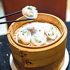 Steamed Coriander and shrimp dumplings 香菜餃