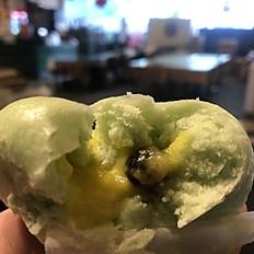 Frozen Pandan Durian Lava Buns with Bubble  冷凍斑斕榴蓮珍珠包