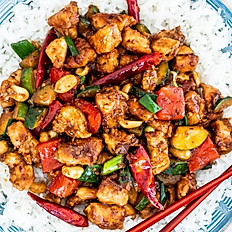 Kung Pao Chicken with peanuts with rice
