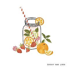 Fruit Tea (Dariy Free) with Bubble