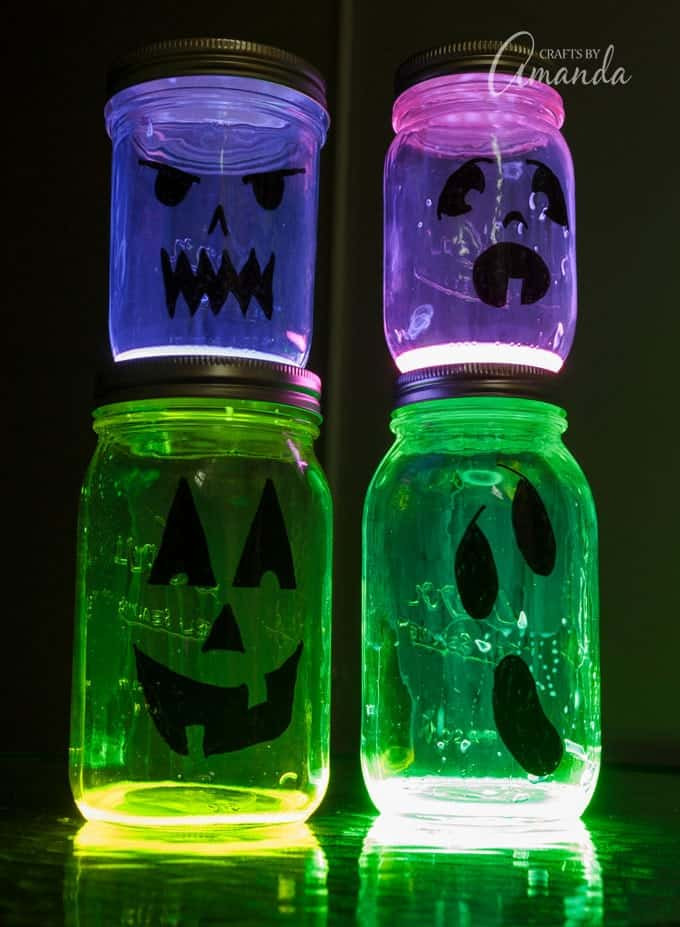 Halloween Glow in the dark jars