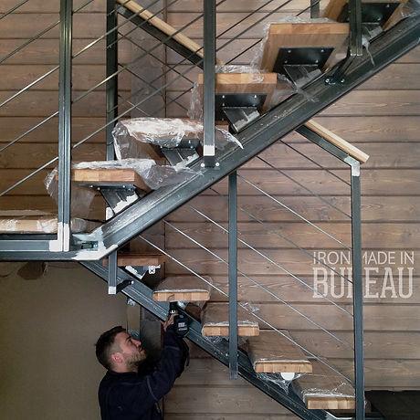 лестница, стальная лестница, металличсекая лестница
