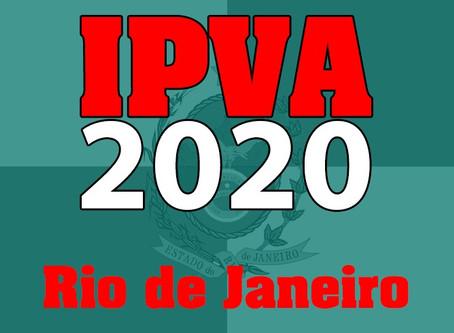 Calendário IPVA 2020 - RJ