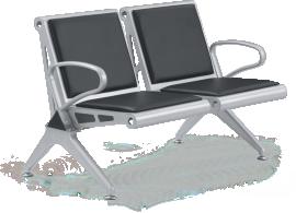 Cadeira Longarina 2 Lugares