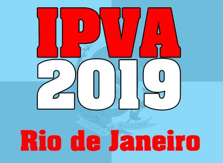 Calendário IPVA 2019 - RJ