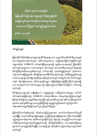 COVID-19 Snapshot Briefing (Myanmar): Rapid Market Assessment of Five Agricultural Value Chains in Myanmar