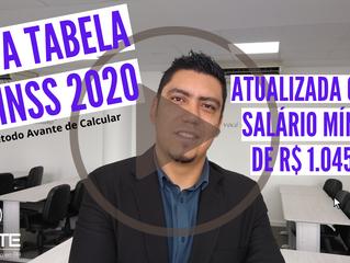 Nova Tabela de INSS 2020 - Atualizada com o novo Salário Mínimo (R$ 1.045,00)