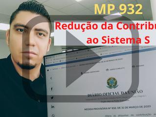 MP 932 - Redução da Contribuição ao Sistema S por causa da Covid-19