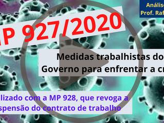 MP 927/2020 - Análise das Medidas Trabalhistas para Enfrentar a Covid-19 - Com Prof. Rafael Lopes