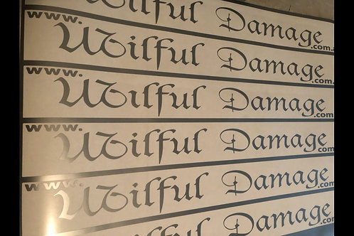Wilful Damage Original Sticker