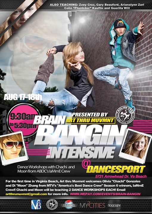 Facebook - 3 weeks left til the Brain-Bangin' Dance Intensive!  20 registration spots are left until