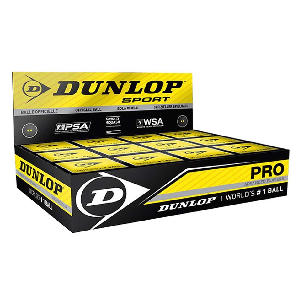 Dunlop Double Yellow Dot Squash Balls