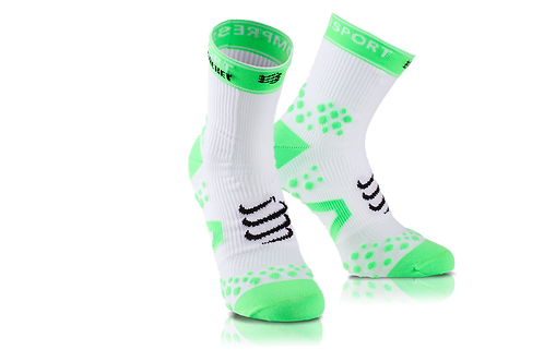 Compressport Racket Double Layer Strapped Sock White