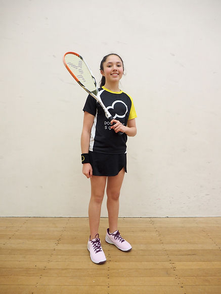 Lucy Aspinall Double Dot Squash Athlete