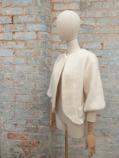 80s cardigan with puff sleeves