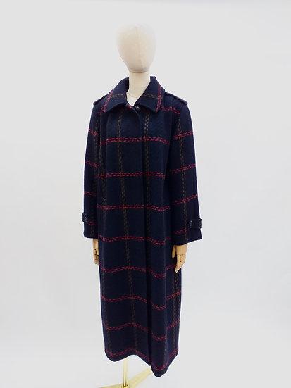 Vintage 80s Plaid Coat