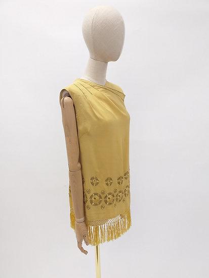 1920s Silk Fringed Tunic