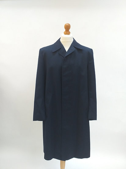 Blue Vintage Mac with Fly Front