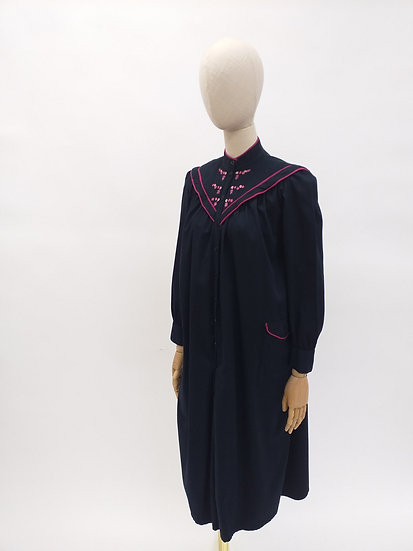 80s Sailor Collar Smock Dress by Phool