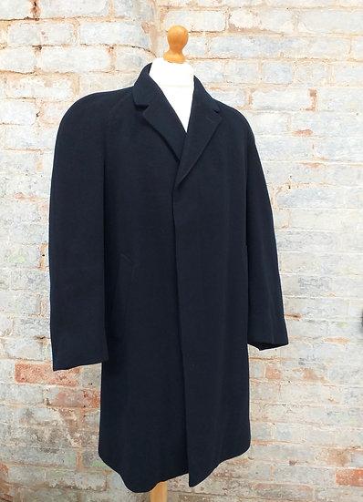 Vintage Coat Navy Blue Wool