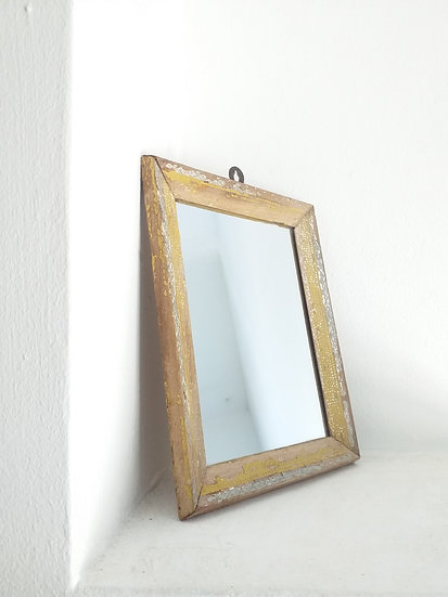 Vintage Mirror with Distressed Paintwork