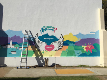 This wall was enormous and we painted in full sun