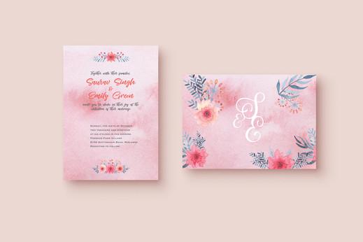 Wedding card and envelope