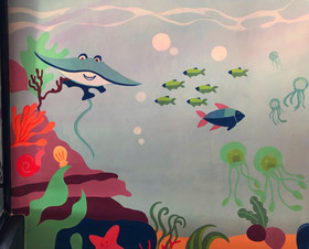 Under the sea for Mike's kitchen kiddies area
