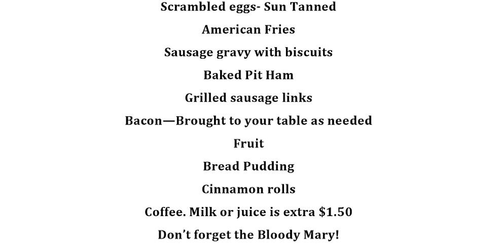 Memorial Day Breakfast Buffet