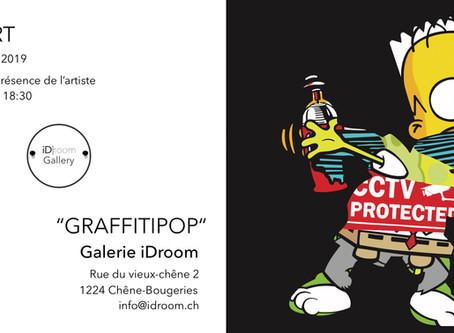 Graffitipop! Solo show at Id Room Geneva