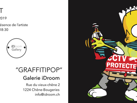 Graffitipop! Solo show at Id Room Geneva