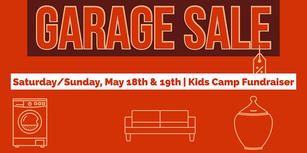 Kids camp Garage Sale Fundraiser