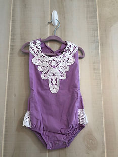 lilac romper 12 months to 2t