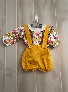 yellow and floral outfit size 12 months