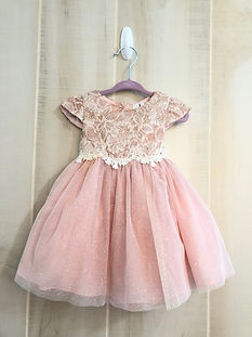 lace and tulle pink dress 12 months