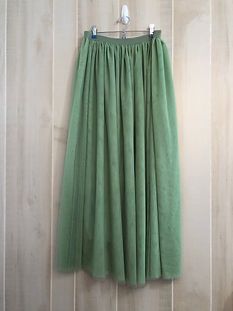 moss green tea length skirt size medium