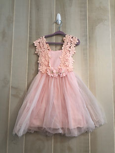 pink tulle and lace dress 5t