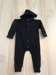 black one piece with hood 12 months to 1